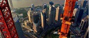 Шанхай с башни строительного крана