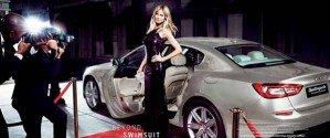 Немецкая модель Хайди Клум стала лицом рекламной компании автомобиля «Мазерати»
