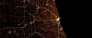 Огни ночных городов из космоса — взгляд с Земли