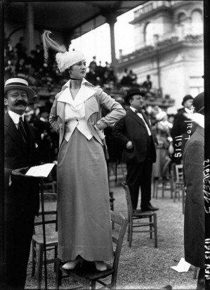 Фотографии мод с парижских скачек 1910-1920 годов