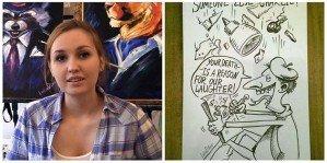 Российская художница ответила французам
