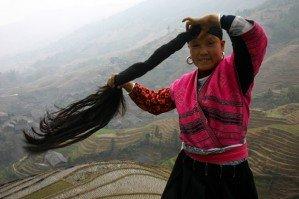Китайская деревня длинноволосых Рапунцель