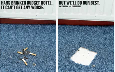 реклама самого грязного отеля