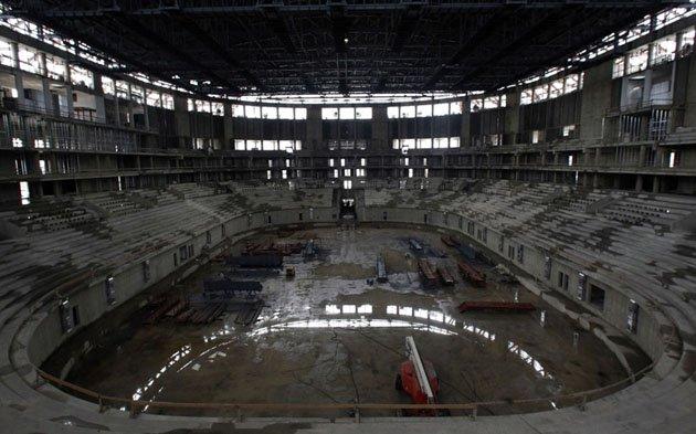 Стадион Сочи во время стройки