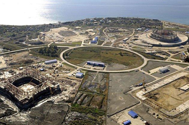 Стройка олимпийских объектов в Сочи