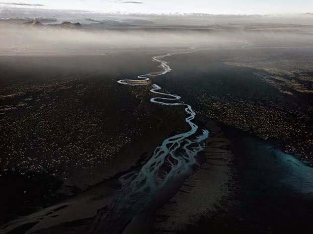 Dyralaekir River on Myrdalssandur, Iceland 2012