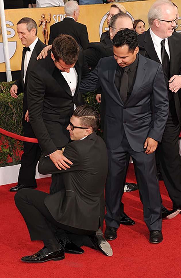 Bradley Cooper was ambushed at the SAG Awards by an adoring fan
