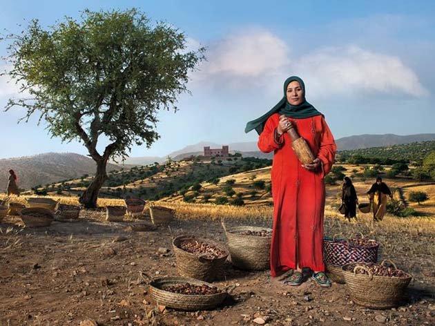 Президент женского кооператива по производству арганового масла. Аргановое дерево похоже на оливковое, но произрастает только на южном побережье Марокко.