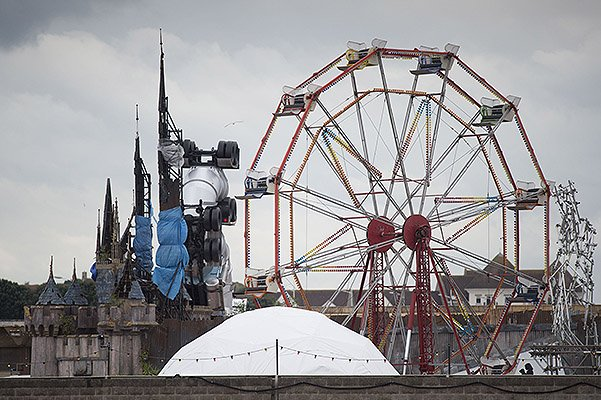 Banksy Unveils Dismaland Bemusement Park In Weston-Super-Mare