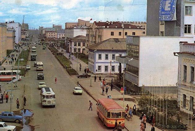ЛиАЗ в Якутске. 1977 год