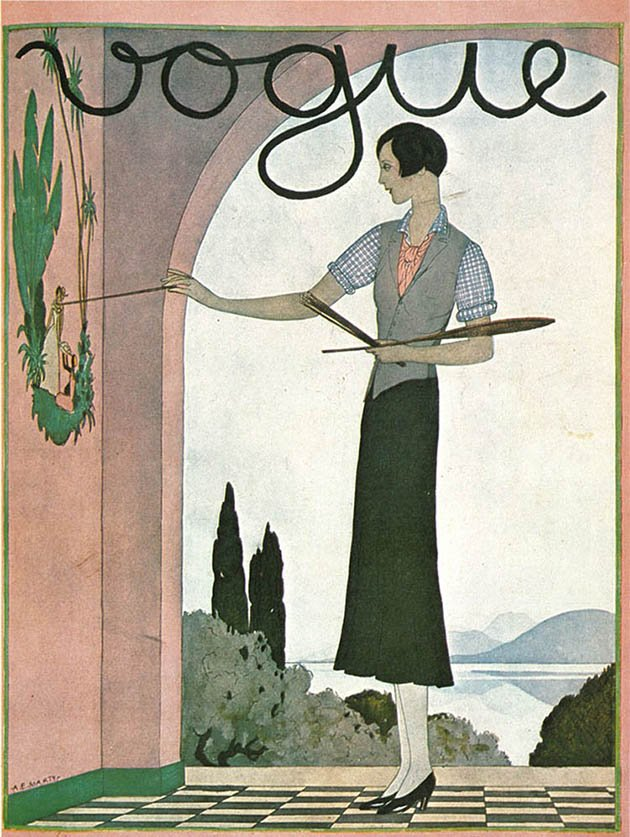 vintage-vogue-covers-painting