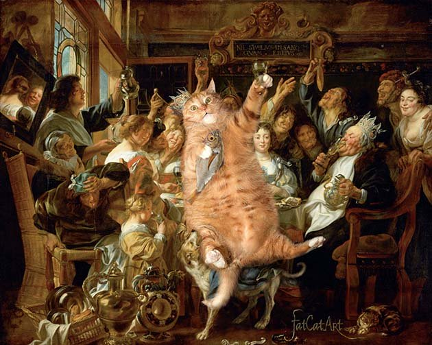 famous-paintings-with-zarathustra-fat-cat-art-svetlana-petrova1